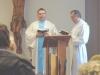 Celebroval P. Martin Šmíd a u oltáře jej doprovázel trvalý jáhen Mgr. Aleš Ligocký