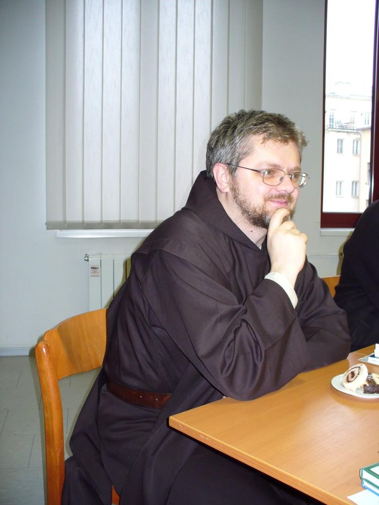 Přednášející P. ThLic. Pavel Vojtěch Kohut, ThD. během krátké přestávky