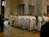 Závěrem průvodu pak šel otec biskup Fantišek se svými kněžími...