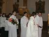 Závěrečný liturgický průvod, ve kterém jde i novokřtěnec Marek Michael... Kéž je Bůh stále s tebou, Marku!